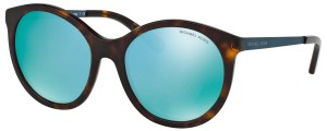 Rudi moteriški akiniai nuo saulės su žalsvais lęšiais