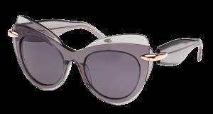 Dideli violetiniai akiniai nuo saulės moterims