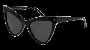 Dideli juodi akiniai nuo saulės moterims