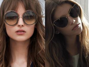 Merginos su dideliais saulės akiniais