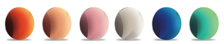 FashionChrome akinių lęšių spalvų įvairovė